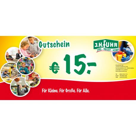15€ Geschenkgutschein für unser Geschäft Fuhr Gießen