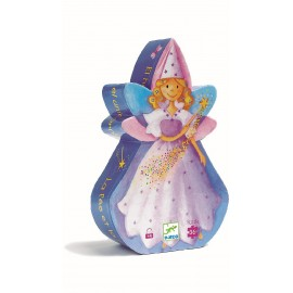 Djeco - Formenpuzzle: The fairy and the unicorn - 36 pcs