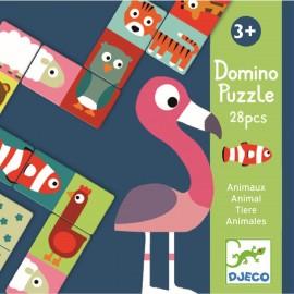 Djeco - Lernspiel: Domino Animo-puzzle