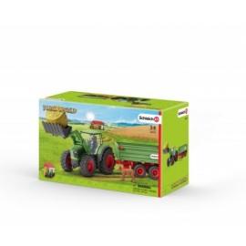Schleich - World of Nature - Farm Life - Traktor mit Anhänger