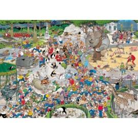 Jumbo Spiele - Puzzle - Jan van Haasteren - Im Zoo, 1000 Teile