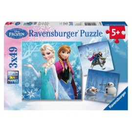 Ravensburger Puzzle - Abenteuer im Winterland, 3x49 Teile