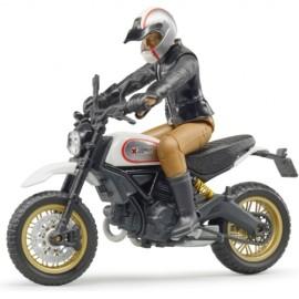 BRUDER - bworld - Scrambler Ducati Desert Sled mit Fahrer