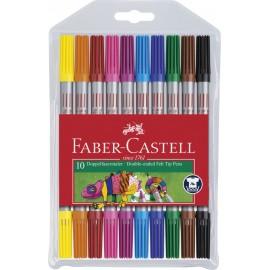 Faber-Castell 10er Doppelfasermaler Etui