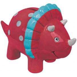 Keramikspardose roter Dino
