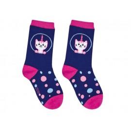 Sweety Socks Katze dunkelblau 27/30