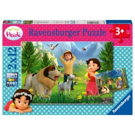 Ravensburger 05143 Puzzle Gemeinsame Zeit in den Bergen 2x12 Teile