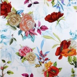 Miniart Crafts Pastell-blauer Blumenstrauß,Perlenstickset