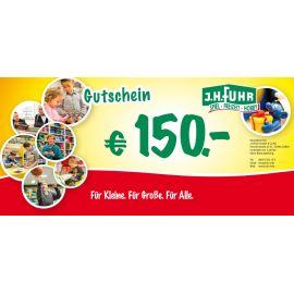 150€ Geschenkgutschein für unser Geschäft Fuhr Gießen