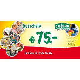 75€ Geschenkgutschein für unser Geschäft Fuhr Gießen