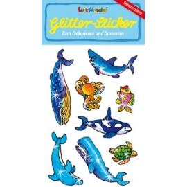Glitter-Sticker Meersetiere
