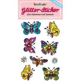 Glitter-Sticker Schmetterling