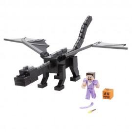 Mattel GYR76 Minecraft Ultimativer Enderdrache (50 cm) mit Steve Figur