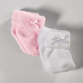 Pu-Socken rosa/weiss,30-42cm